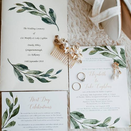 image of a wedding stationary for a wedding in mount Juliet